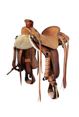 "Faber 16"" Wade Saddle With Horn & Rawhide Edge Finishes"