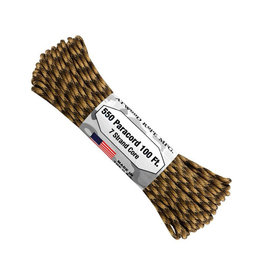 Atwood 550 Paracord 100ft - Core FDE Camo