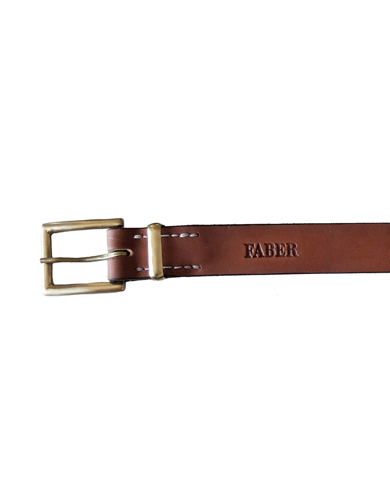 Faber Unisex Belt – 35mm Width Solid Brass