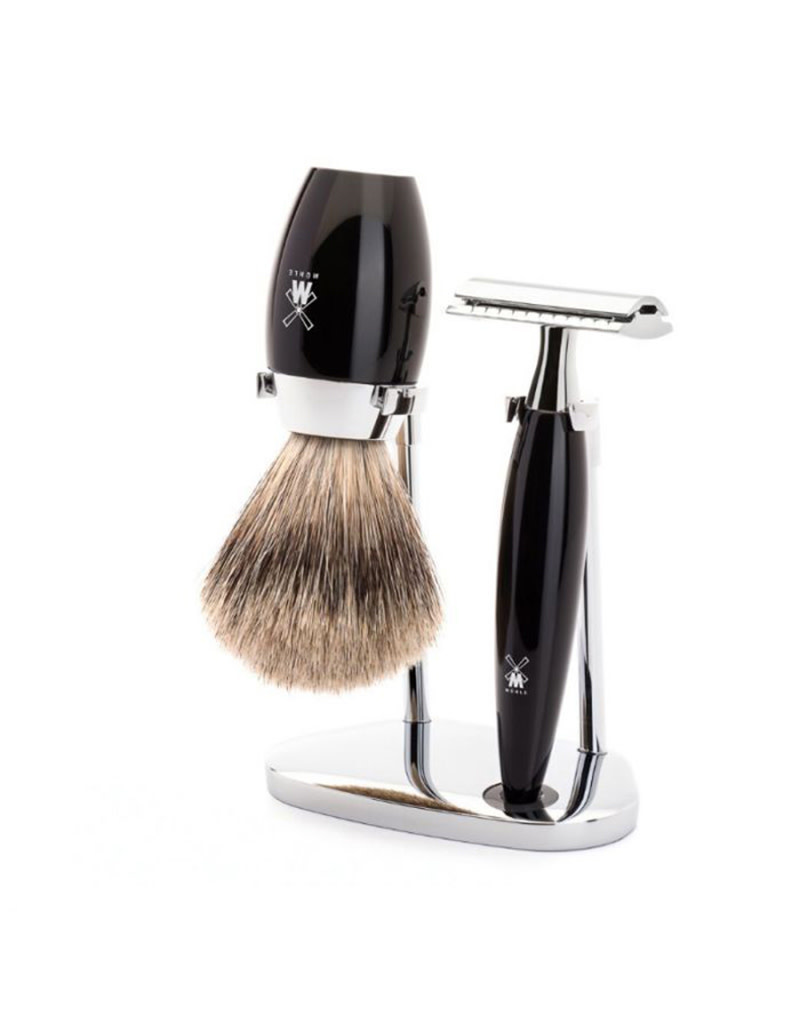 Mühle Shaving Set Kosmo 3 piece Fine Black