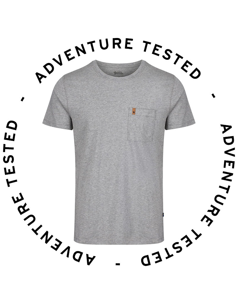 Fjallraven Men's Ovik Pocket-T Grey Small - Adventure Tested