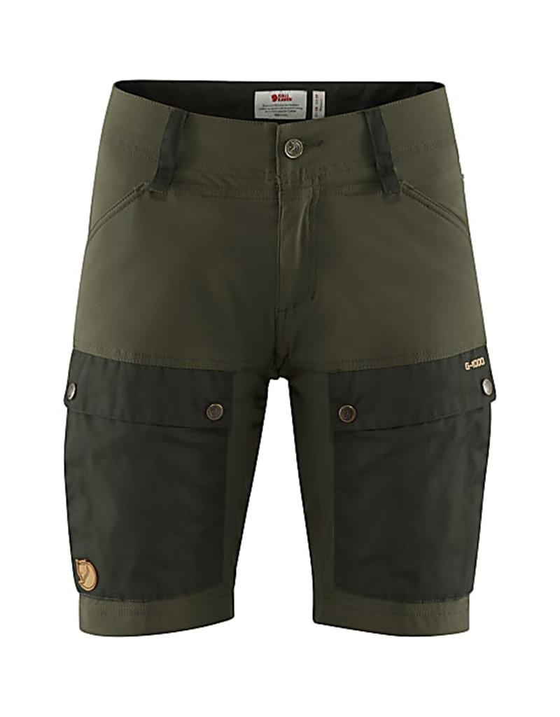 Fjällräven Keb Shorts W Deep Forest-Laurel Green