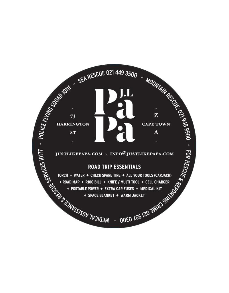 Just Like Papa License Disk Sticker 10.5 x 10.5 cm