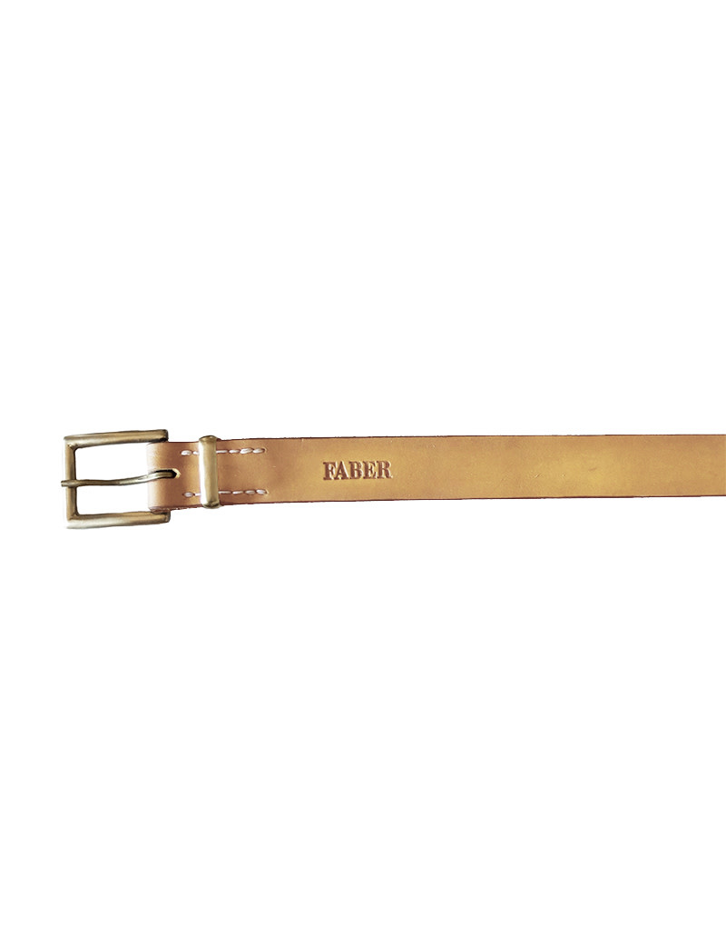 Faber Unisex Belt – 35mm Width Brass Light Brown