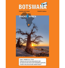 Tracks 4 Africa Botswana Paper Map 4th edition