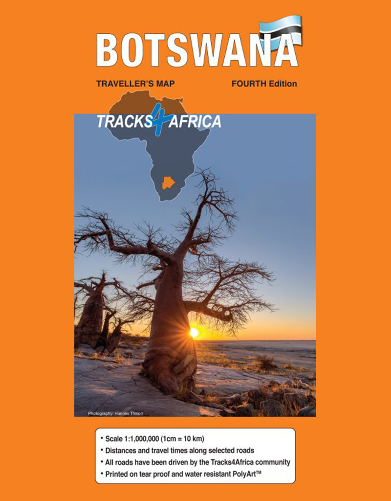 Tracks 4 Africa Botswana Paper Map 4th edition