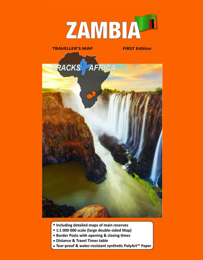 Tracks 4 Africa Zambia Paper Map 1st edition