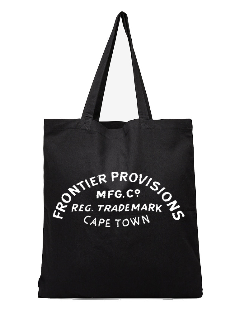 Frontier Provisions Logo Tote Black
