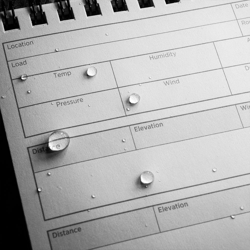 Rite in the Rain Data On Previous Engagements Top Spiral 4X6
