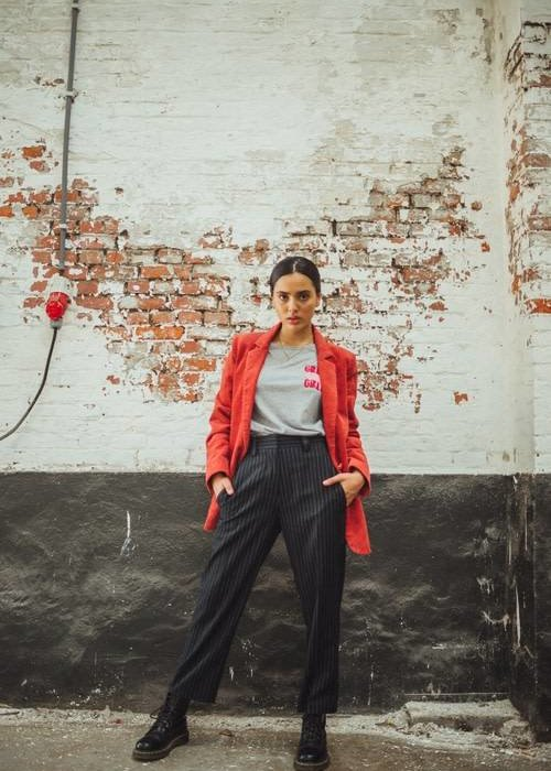 Liv The Label Manara Borsalino Stripe Ankle-Length Trousers
