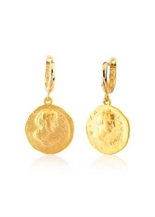 Maison Irem Coin Earring Lou Gold Plated
