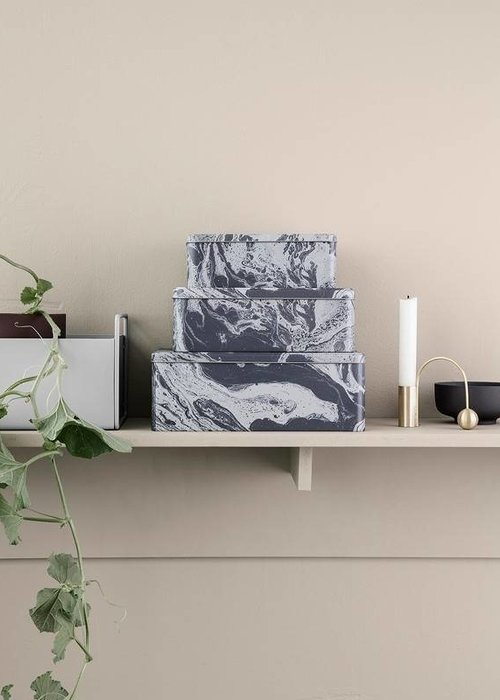Ferm Living Tin Boxes Marble