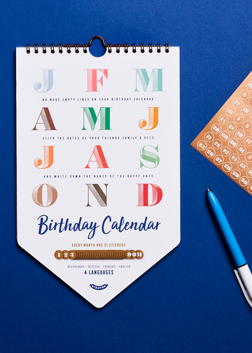 Stratier Birthday Calendar
