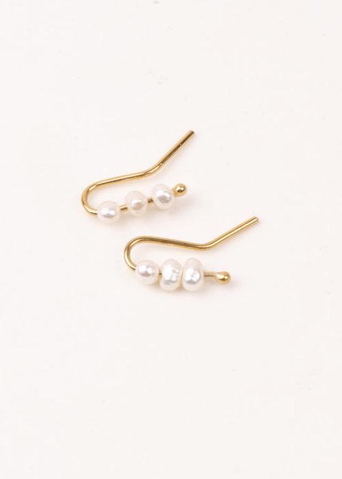 Charlotte Wooning Earrings Perles Light Pearl
