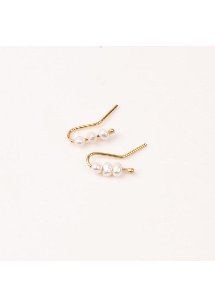 Earrings Perles Light Pearl