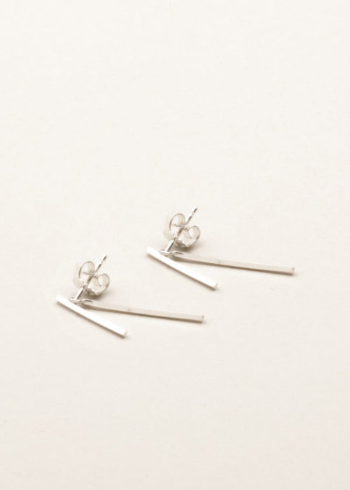 Charlotte Wooning Earrings Square Duo Silver