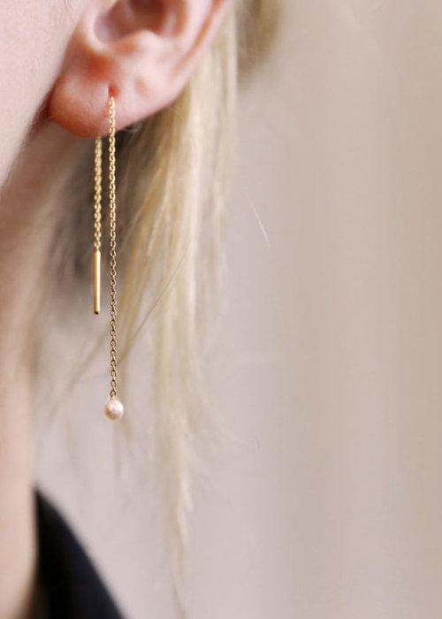 Charlotte Wooning EM Earrings Mercurius Light Pearl Yellow