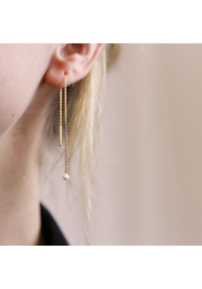 EM Earrings Mercurius Light Pearl Yellow