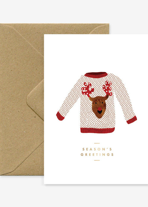 All the ways to say Christmas Jumper gold Foil