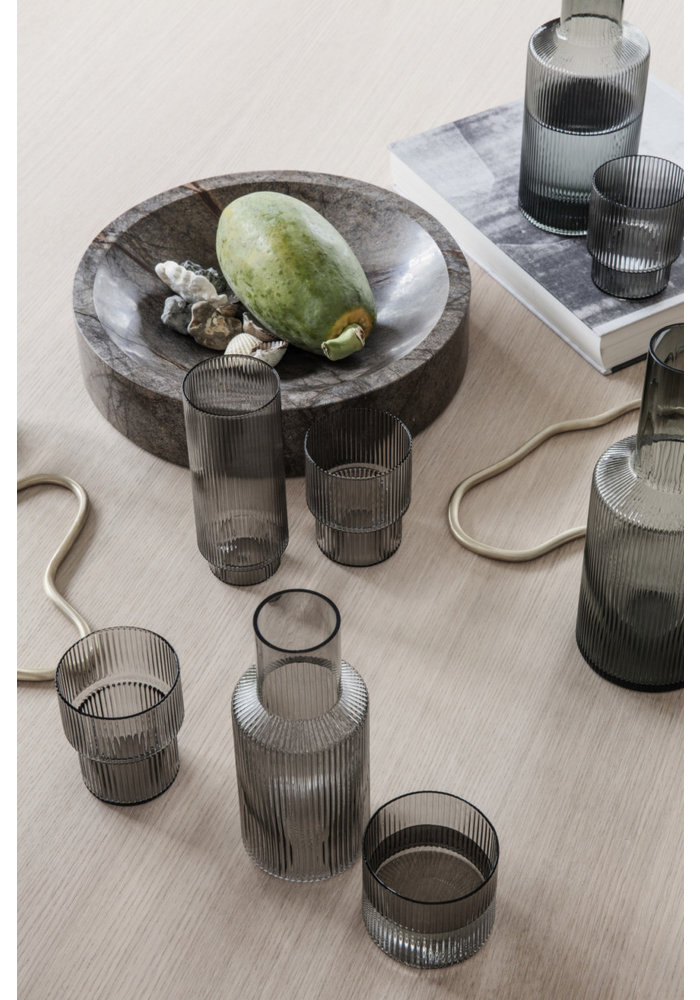 Ripple Long Drinks Set of 4 - Smokey Grey