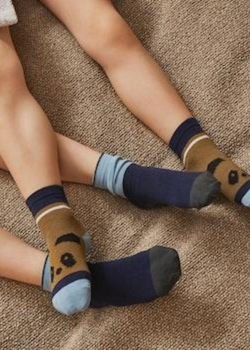 Liewood Silas Socks Olive Green Multi Mix
