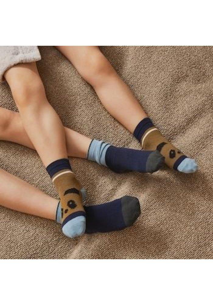 Silas Socks Olive Green Multi Mix