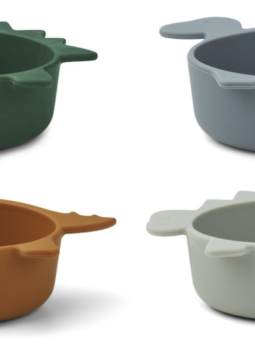 Liewood Iggy Silicone bowls Blue Mix