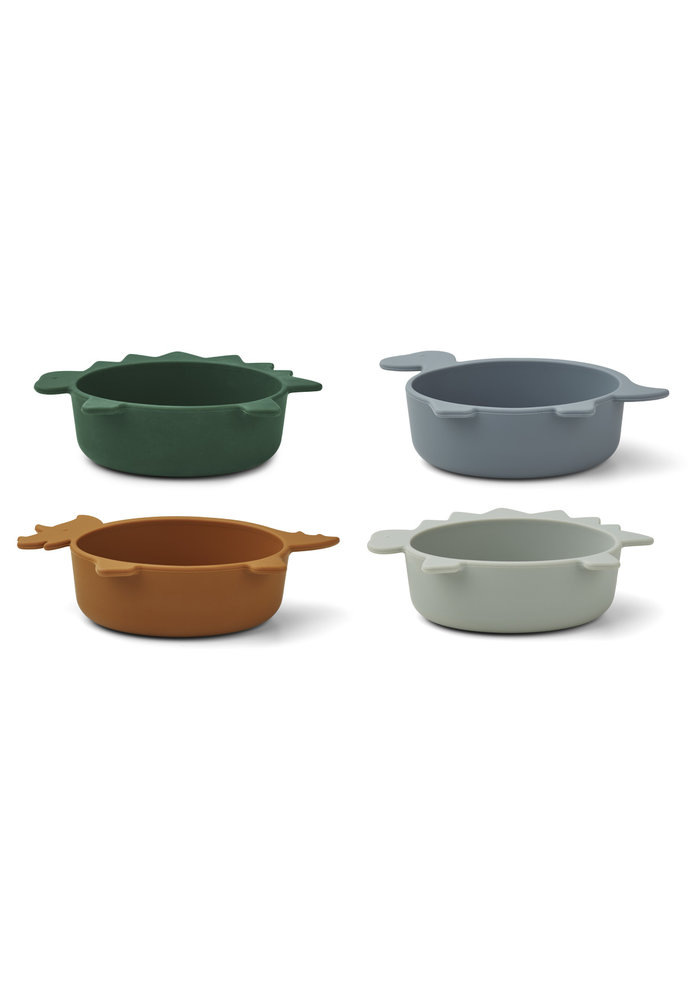 Iggy Silicone bowls Blue Mix
