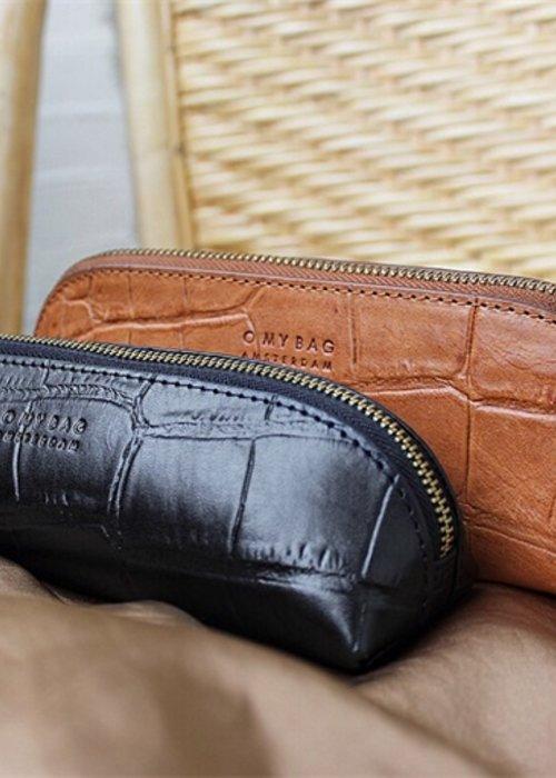 O My Bag Pencil Case Large Cognac  Croco