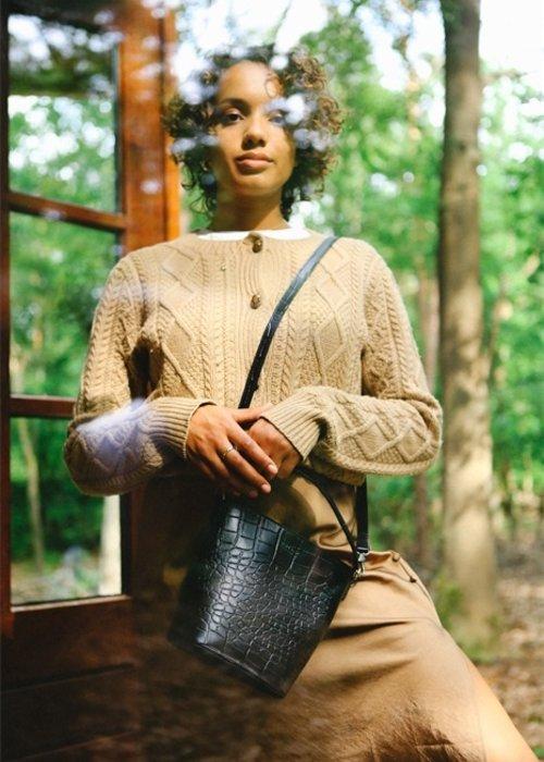 O My Bag Bobbi Bucket Bag Eco-Croco Classic Leather
