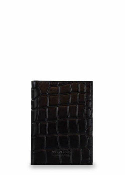 O My Bag Passport Holder Eco-Classic Black Croco