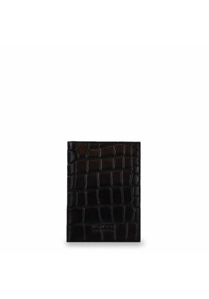 Passport Holder Eco-Classic Black Croco
