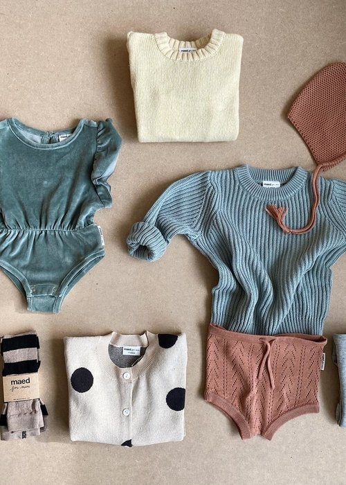 Maed For Mini Blonde Buffalo Sweater