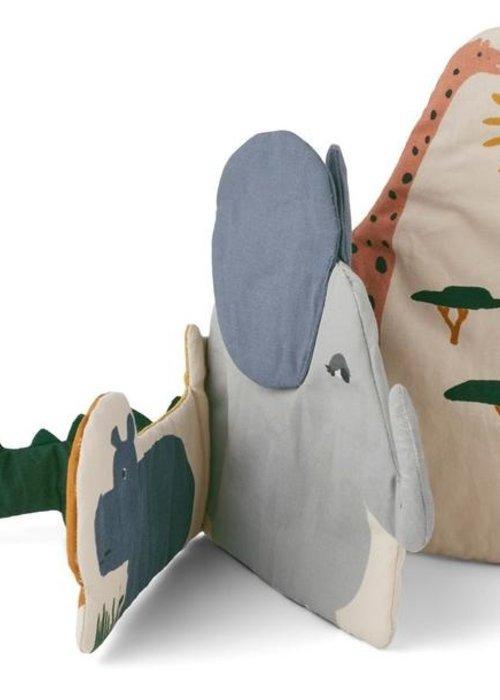 Liewood Kala Fabric Book Safari Mix