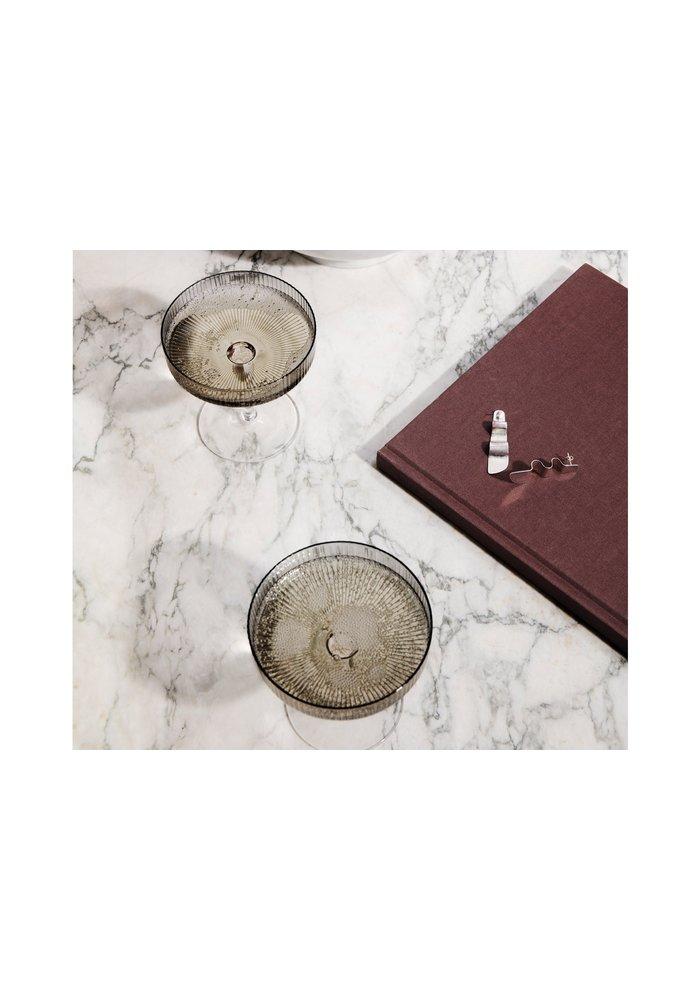 Ripple Champagne Saucer Smoked Grey