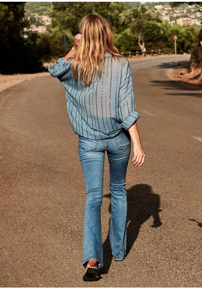 Lizzy Flare Blue Desert