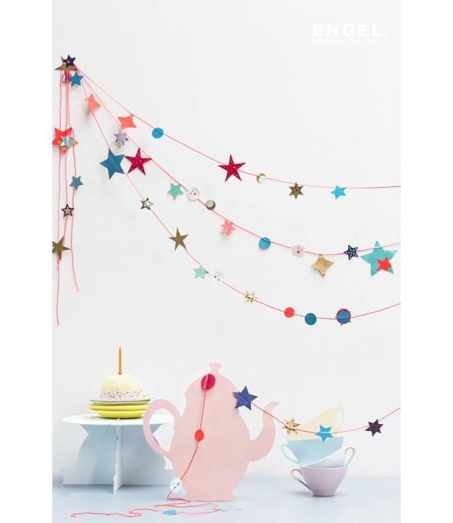 ENGEL. ENGEL. Papiergirlande Stars pink