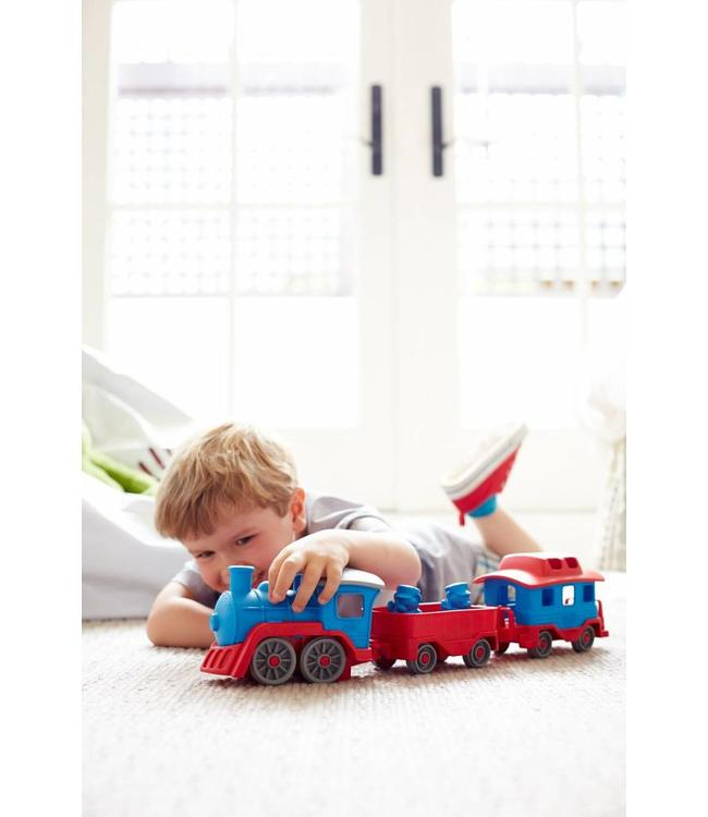 Green Toys Green Toys Eisenbahn rot-blau