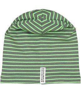 Geggamoja Geggamoja Mütze Streifen moosgrün/grün