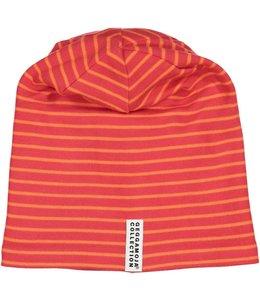 Geggamoja Geggamoja Wintermütze Streifen rot/orange  Fleece