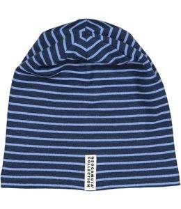 Geggamoja Geggamoja Wintermütze Streifen marine/hellblau  Fleece