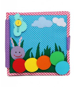 Jolly Designs Quiet Book - Bunte Raupe