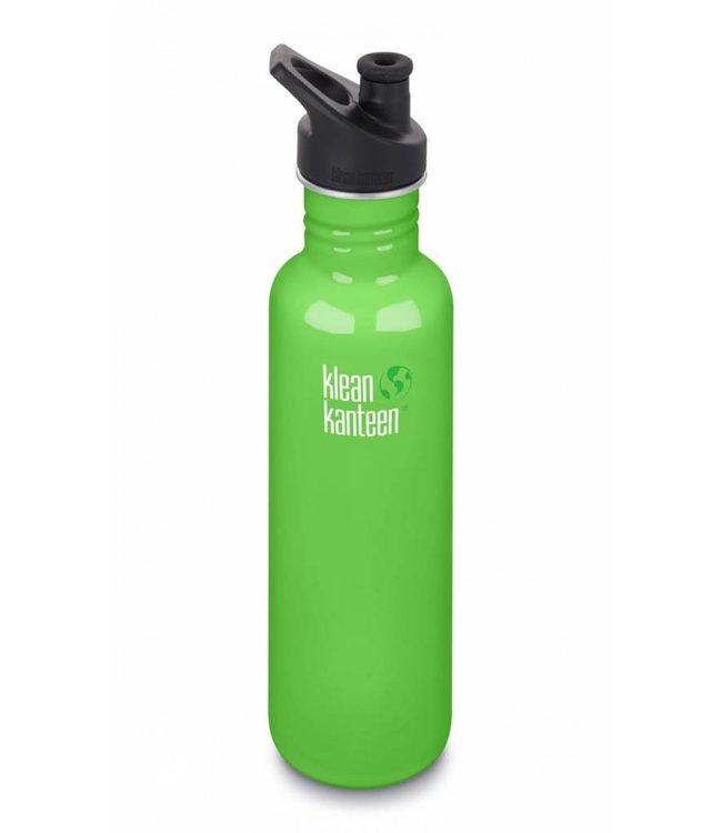 Klean Kanteen Klean Kanteen Trinkflasche Classic mit Sport Cap Spring Green 800 ml