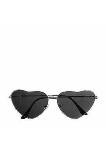 Les Soeurs Holly Heart Sunglasses Black