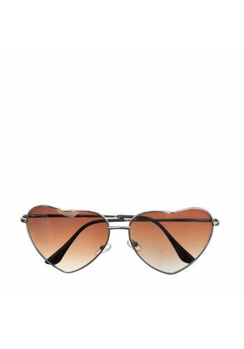 Les Soeurs Holly Heart Sunglasses Brown