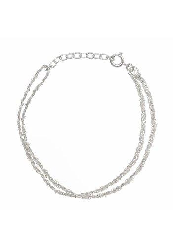 Les Soeurs Rina Double Bracelet Grey Silver