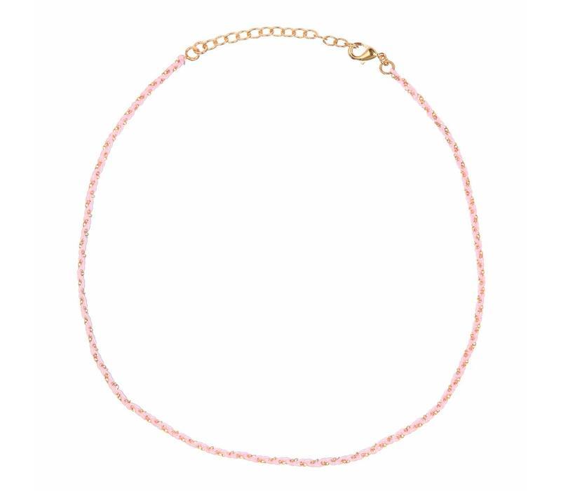Rani necklace Light Pink Gold