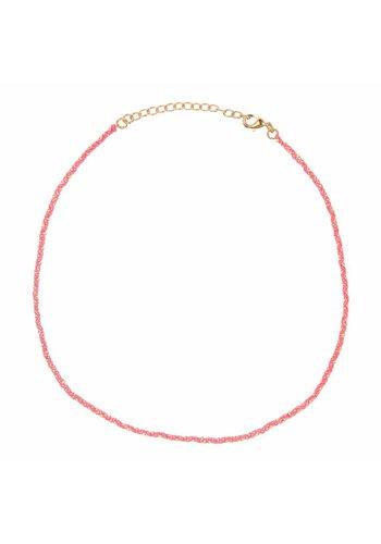 Les Soeurs Rani necklace Dark Pink Gold