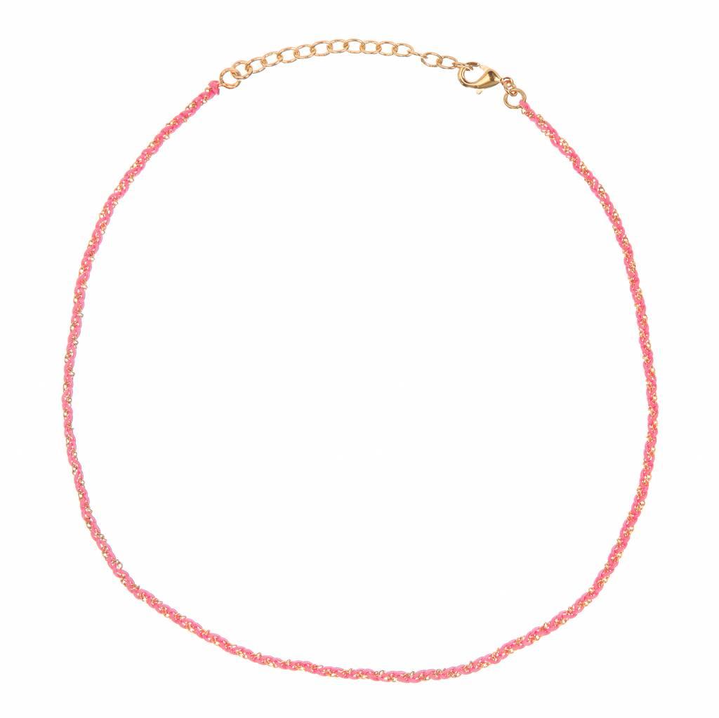 Rani necklace Dark Pink Gold