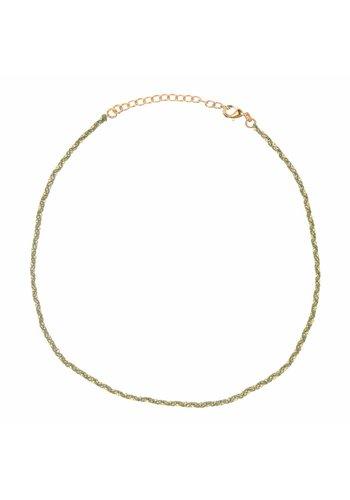 Les Soeurs Rani necklace Kaki Gold